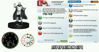 Wizkids Heroclix 2016 Convention Exclusive The Shredder Black and White Figure