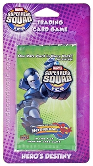 Marvel Super Hero Squad Trading Card Game Hero's Destiny Blister Pack