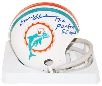 Don Shula Autographed Miami Dolphins Mini Helmet (17-0)