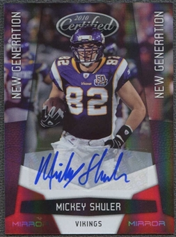 2010 Panini Certified Football Mickey Shuler Rookie Auto #191/250