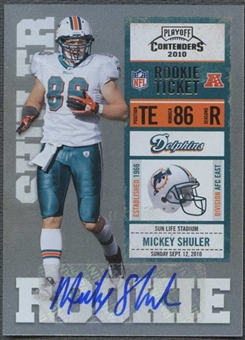 2010 Playoff Contenders #172 Mickey Shuler Rookie Autograph