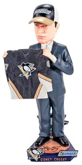 Sidney Crosby Autographed Pittsburgh Penguins 2005 NHL Draft Bobblehead (JSA)