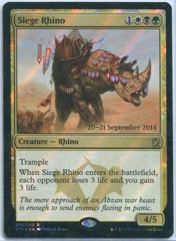 Magic the Gathering Khans of Tarkir Prerelease Single Siege Rhino FOIL - NEAR MINT (NM)