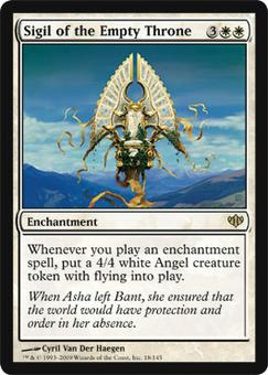 Magic the Gathering Conflux Single Sigil of the Empty Throne - NEAR MINT (NM)