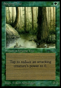 Magic the Gathering Arabian Nights Single Singing Tree - MODERATE PLAY (MP)