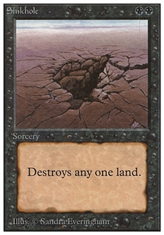 Magic the Gathering Unlimited Single Sinkhole - MODERATE PLAY (MP)