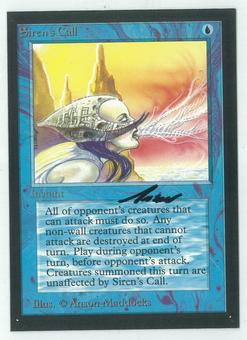Magic the Gathering Beta Artist Proof Siren's Call - SIGNED BY ANSON MADDOCKS