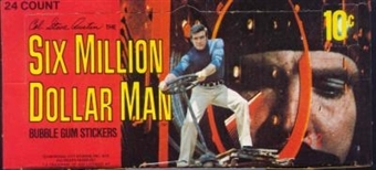 Six Million Dollar Man Wax Box (1975 Donruss)
