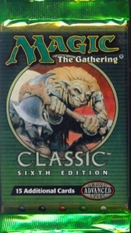Magic the Gathering 6th Edition Booster Pack