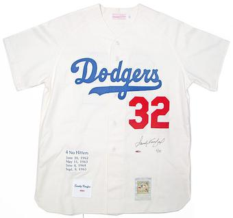 Sandy Koufax Autographed L.A. Dodgers Mitchell & Ness Jersey #/32 (UDA COA)