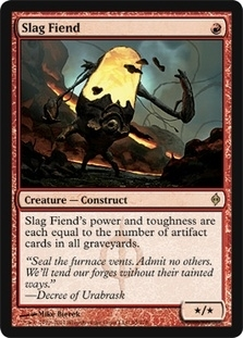 Magic the Gathering New Phyrexia Single Slag Fiend Foil