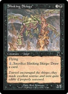 Magic the Gathering Urza's Destiny Single Slinking Skirge Foil