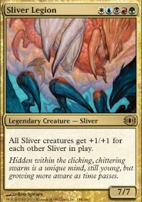 Magic the Gathering Future Sight Single Sliver Legion Foil