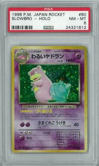 Pokemon Rocket Single Dark Slowbro Japanese - PSA 8