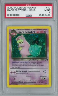 Pokemon Team Rocket Dark Slowbro 12/82 Holo Rare PSA 9