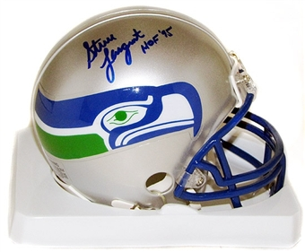 Steve Largent Autographed Seattle Seahawks Football Mini Helmet