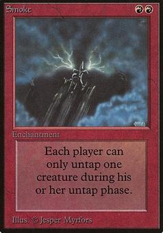 Magic the Gathering Beta Single Smoke - SLIGHT PLAY (SP)