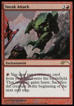 Magic the Gathering Promo Single Sneak Attack JUDGE FOIL - SLIGHT PLAY (SP)