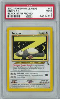 Pokemon League Promo Snorlax 49 Rare PSA 9