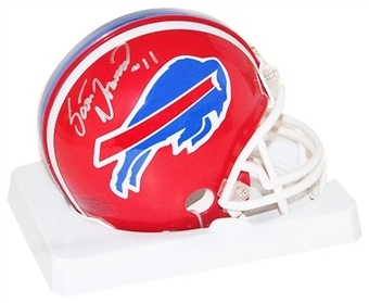 Scott Norwood Autographed Buffalo Bills Mini Football Helmet