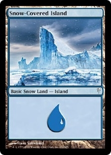 Magic the Gathering Coldsnap Single Snow-Covered Island FOIL