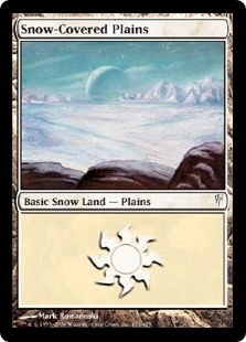 Magic the Gathering Coldsnap Single Snow-Covered Plains Foil