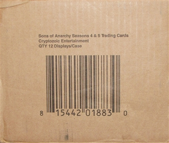 Sons of Anarchy Seasons 4-5 Trading Cards 12-Box Case (Cryptozoic 2015)
