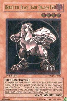 Yu-Gi-Oh Soul of the Duelist 1st Ed. Horus Black Flame Dragon LV4 Ultimate - SLIGHT PLAY (SP)