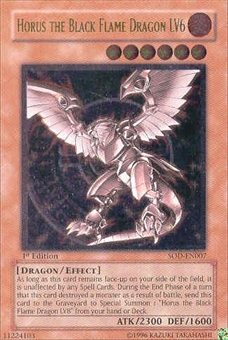 Yu-Gi-Oh Soul of the Duelist 1st Ed. Horus Black Flame Dragon Lv6 Ultimate Rare