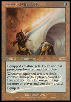 Magic the Gathering Promo Single Sword of Fire And Ice JUDGE FOIL - SLIGHT PLAY (SP)