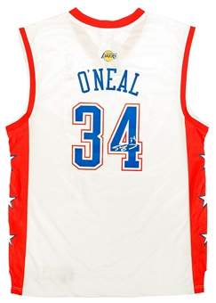 Shaquille O'Neal Autographed L.A. Lakers White Reebok All-Star Basketball Jersey (JSA)