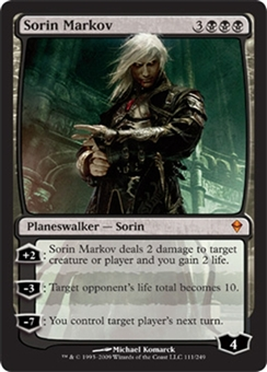 Magic the Gathering Zendikar Single Sorin Markov FOIL NEAR MINT (NM)