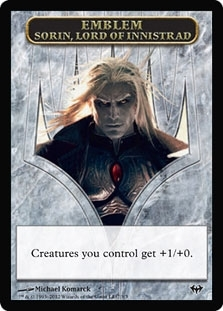 Magic the Gathering Dark Ascension Single Sorin Emblem - NEAR MINT (NM)