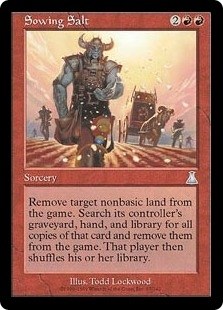 Magic the Gathering Urza's Destiny Single Sowing Salt Foil