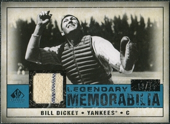 2008 Upper Deck SP Legendary Cuts Legendary Memorabilia Blue Parallel #BD Bill Dickey 13/25