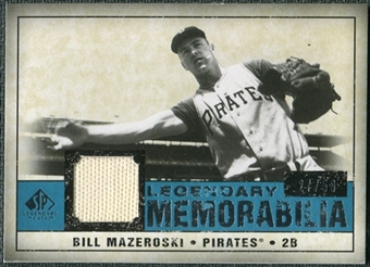 2008 Upper Deck SP Legendary Cuts Legendary Memorabilia Blue #BM Bill Mazeroski /50