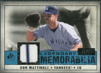 2008 Upper Deck SP Legendary Cuts Legendary Memorabilia Blue Parallel #DM Don Mattingly /99