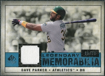 2008 Upper Deck SP Legendary Cuts Legendary Memorabilia Blue Parallel #DP2 Dave Parker /99
