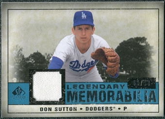 2008 Upper Deck SP Legendary Cuts Legendary Memorabilia Blue #DS Don Sutton /99