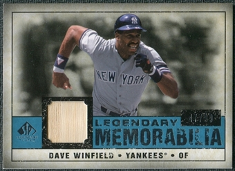 2008 Upper Deck SP Legendary Cuts Legendary Memorabilia Blue Parallel #DW Dave Winfield /99