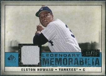 2008 Upper Deck SP Legendary Cuts Legendary Memorabilia Blue Parallel #EH Elston Howard /99