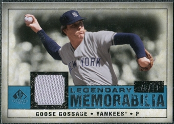 2008 Upper Deck SP Legendary Cuts Legendary Memorabilia Blue Parallel #GG Goose Gossage /99