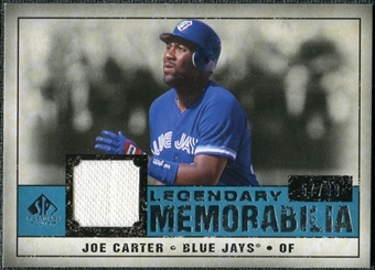 2008 Upper Deck SP Legendary Cuts Legendary Memorabilia Blue Parallel #JC Joe Carter /99