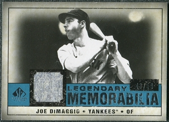 2008 Upper Deck SP Legendary Cuts Legendary Memorabilia Blue #JD Joe DiMaggio 43/50