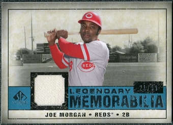 2008 Upper Deck SP Legendary Cuts Legendary Memorabilia Blue #JM Joe Morgan /99