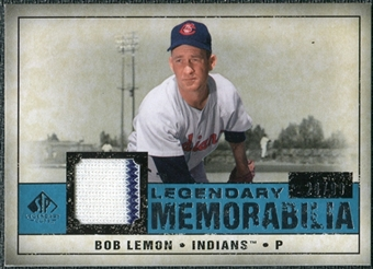 2008 Upper Deck SP Legendary Cuts Legendary Memorabilia Blue Parallel #LE Bob Lemon /99