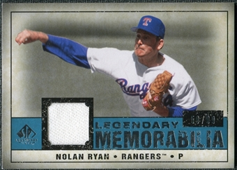 2008 Upper Deck SP Legendary Cuts Legendary Memorabilia Blue #NR2 Nolan Ryan /99