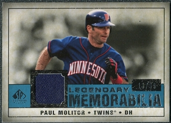 2008 Upper Deck SP Legendary Cuts Legendary Memorabilia Blue #PM2 Paul Molitor /99