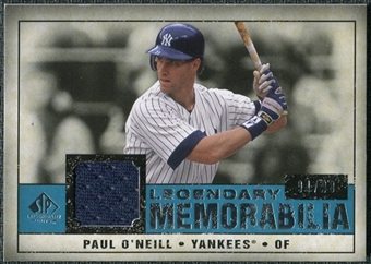 2008 Upper Deck SP Legendary Cuts Legendary Memorabilia Blue Parallel #PO Paul O'Neill /99