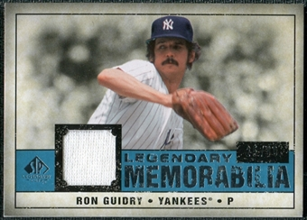 2008 Upper Deck SP Legendary Cuts Legendary Memorabilia Blue Parallel #RG Ron Guidry /99